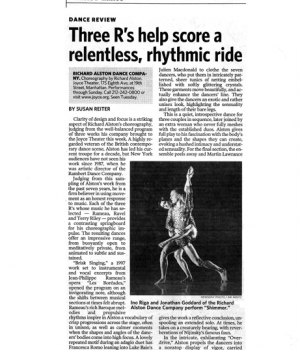 Three R's help score a relentless, rhythmic ride