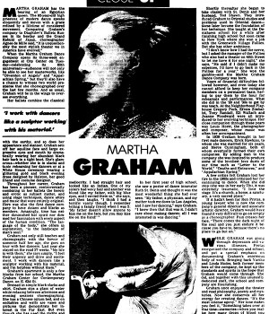Close Up: Martha Graham