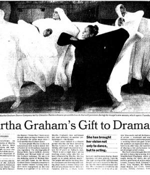 Martha Graham's Gift to Drama
