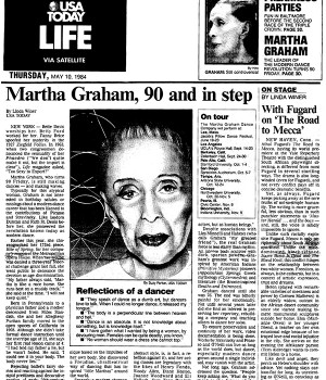 Martha Graham, 90 and in step
