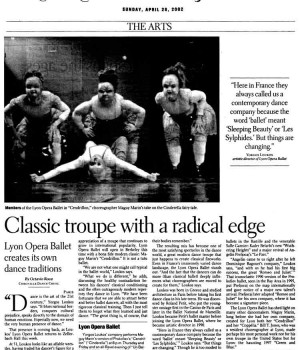 Classic troupe with a radical edge