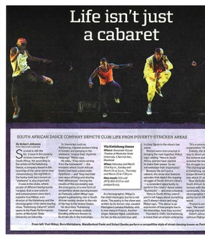 Life isn't just a cabaret