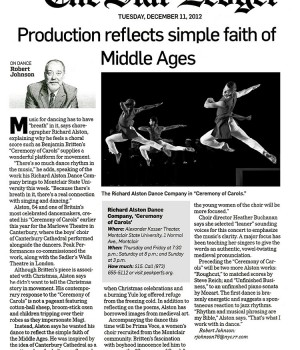 Production reflects simple faith of Middle Ages