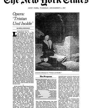 Opera: 'Tristan Und Isolde'