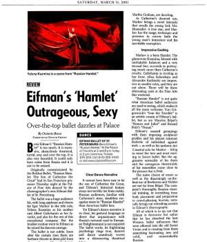 Eifman's 'Hamlet' Outrageous, Sexy