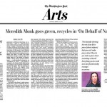 Meredith Monk goes green, recycles in new work 'On Behalf of Nature'
