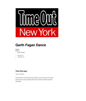 Garth Fagan Dance at The Joyce