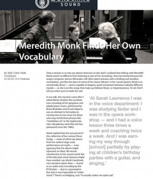Meredith Monk Finds Her Own Vocabulary