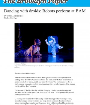 Dancing with droids: Robots perform at BAM