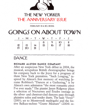 Goings On About Town: Richard Alston Dance Company