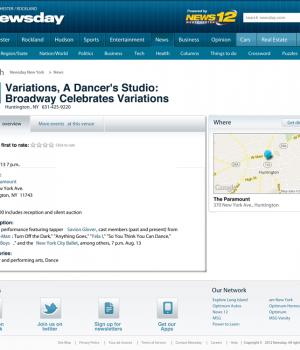 Variations, A Dancer's Studio: Broadway Celebrates Variations