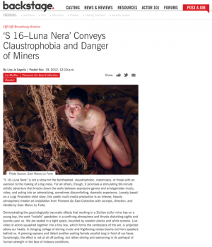 'S 16-Luna Nera' Conveys Claustrophobia and Danger of Miners