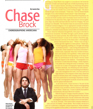 You Should Know: Chase Brock Choreographing Americana