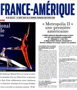 Ballet national de Marseille Première Américaine