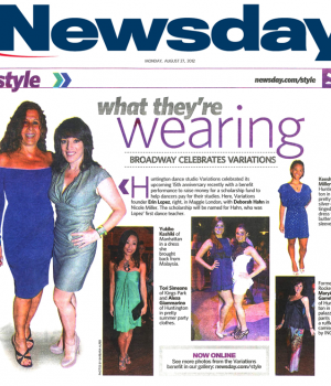 What They're Wearing, Broadway Celebrates Variations