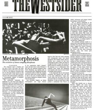 Metamorphosis, The Evolution of Dance Company Morphoses