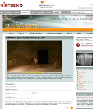 Sunday Arts News, Company Stephanie Batten Bland at Symphony Space