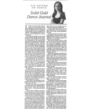 Solid Gold Dance Journal