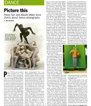 Picture this: Patsy Tarr and Abbott Miller think 2wice about dance photography