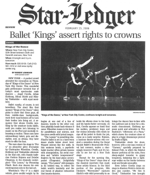Ballet 'Kings' Assert Rights to Crowns