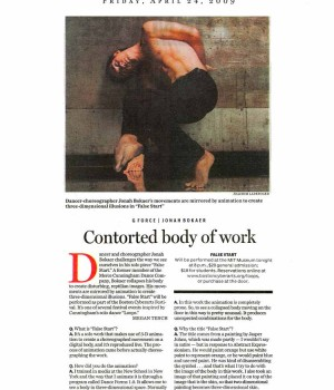 Contorted body of work