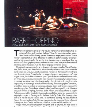 First Buzz: Barre Hopping