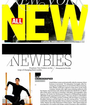 Fourteen New Yorkers on the verge of changing their worlds: New Choreographer