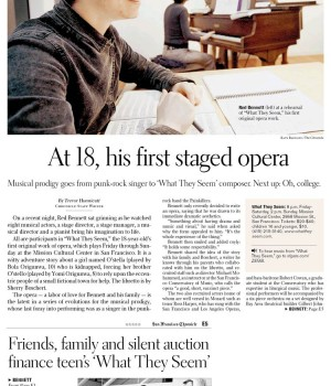At 18, his first staged opera