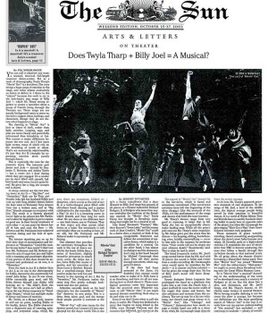 Does Twyla Tharp + Billy Joel = A Musical?