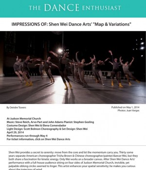 http://www.dance-enthusiast.com/features/view/Shen-Wei-Map-Variations-Judson