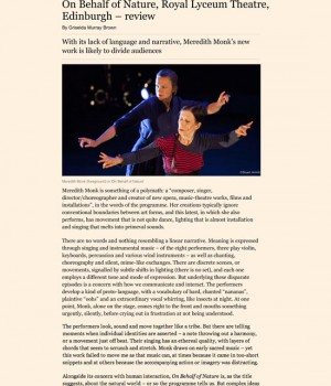 On Behalf of Nature, Royal Lyceum Theatre, Edinburgh – review