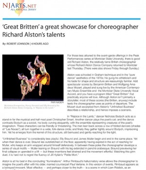 'Great Britten' a great showcase for choreographer Richard Alston's talents